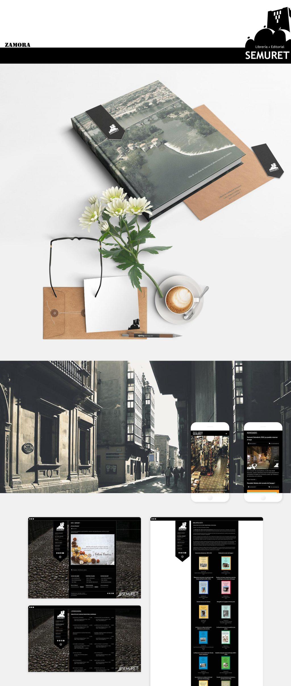 branding identidad corporativa sitio web librería editorial Semuret Zamora HenkaWebs Henka Arquitectos