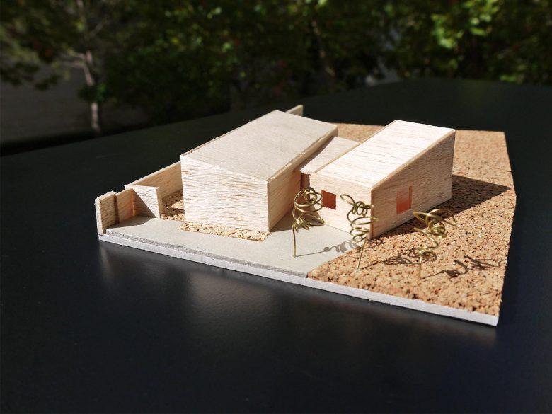 Maqueta trabajo Casa frente palomar Villalazán Zamora Henka Arquitectos