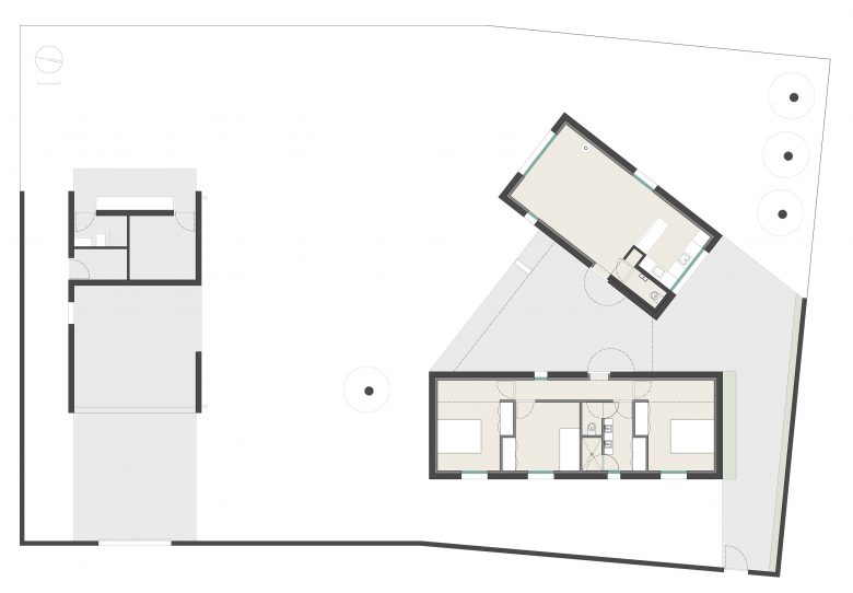 Distribución Casa frente palomar Villalazán Zamora Henka Arquitectos