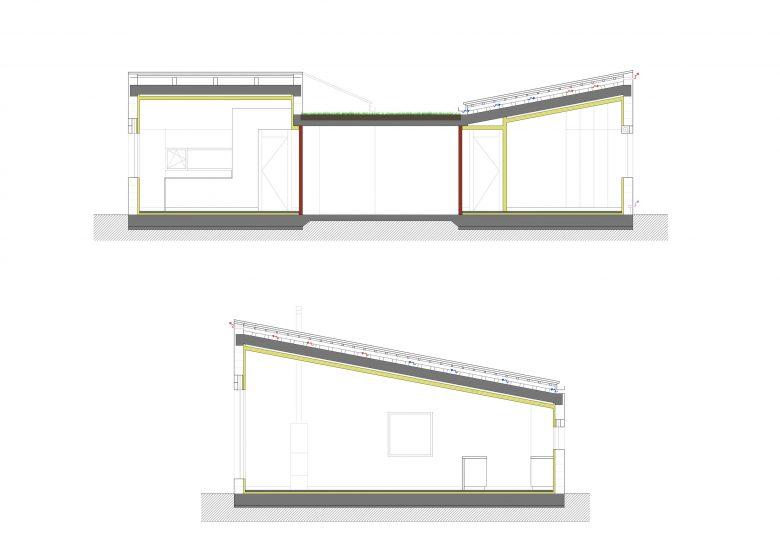 Ventilación natural cubiertas Casa frente palomar Villalazán Zamora Henka Arquitectos