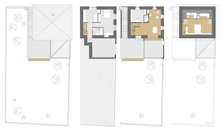 Distribución reforma ampliación Casa guardia San Lorenzo del Escorial HenkaArquitectos