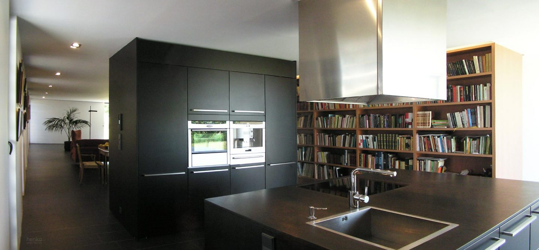 granito negro Zimbabüe cocina biblioteca casa campo pinar libreros Bamba Zamora Elmar Cucine Gaggenau Liebherr Neff Pando Franke Henka Arquitectos