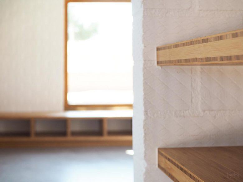 mobiliario cocina tablero bambú macizo Casa Pinar Antequera Valladolid Henka Arquitectos