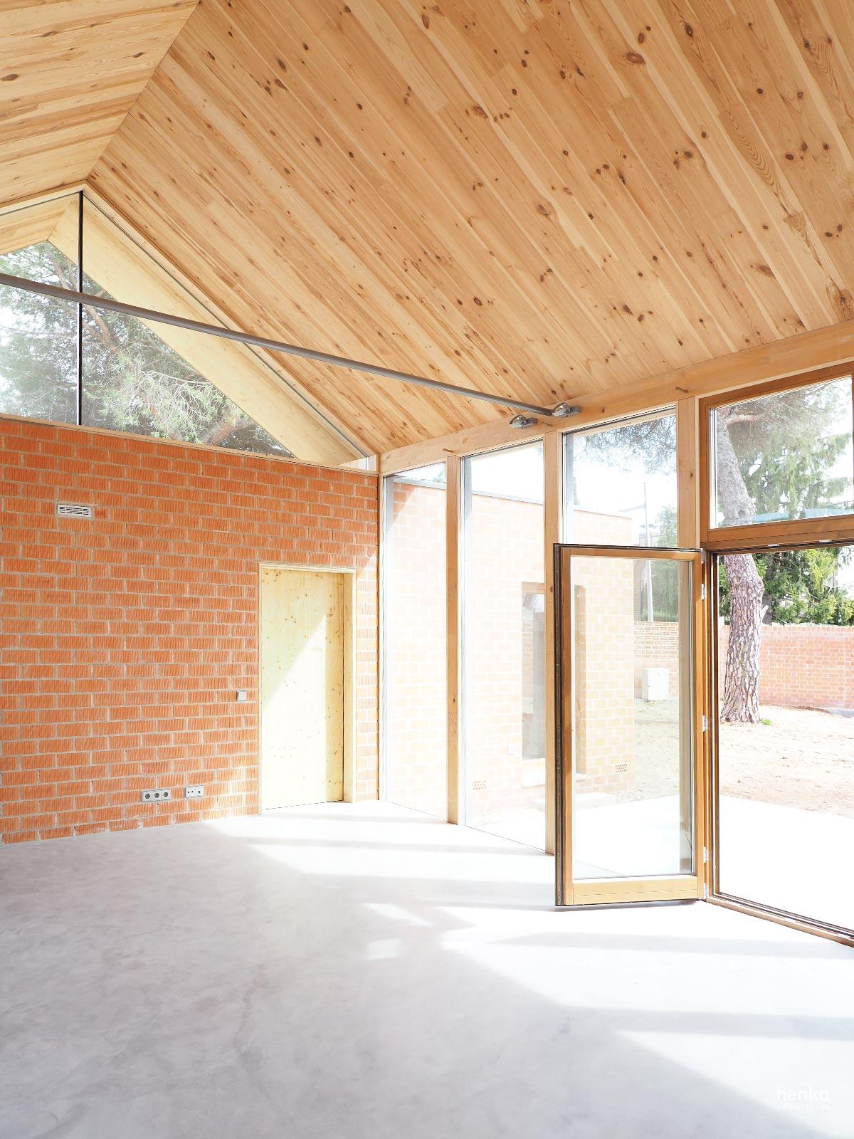 Zona de estar Casa Pinar Antequera Valladolid Henka Arquitectos