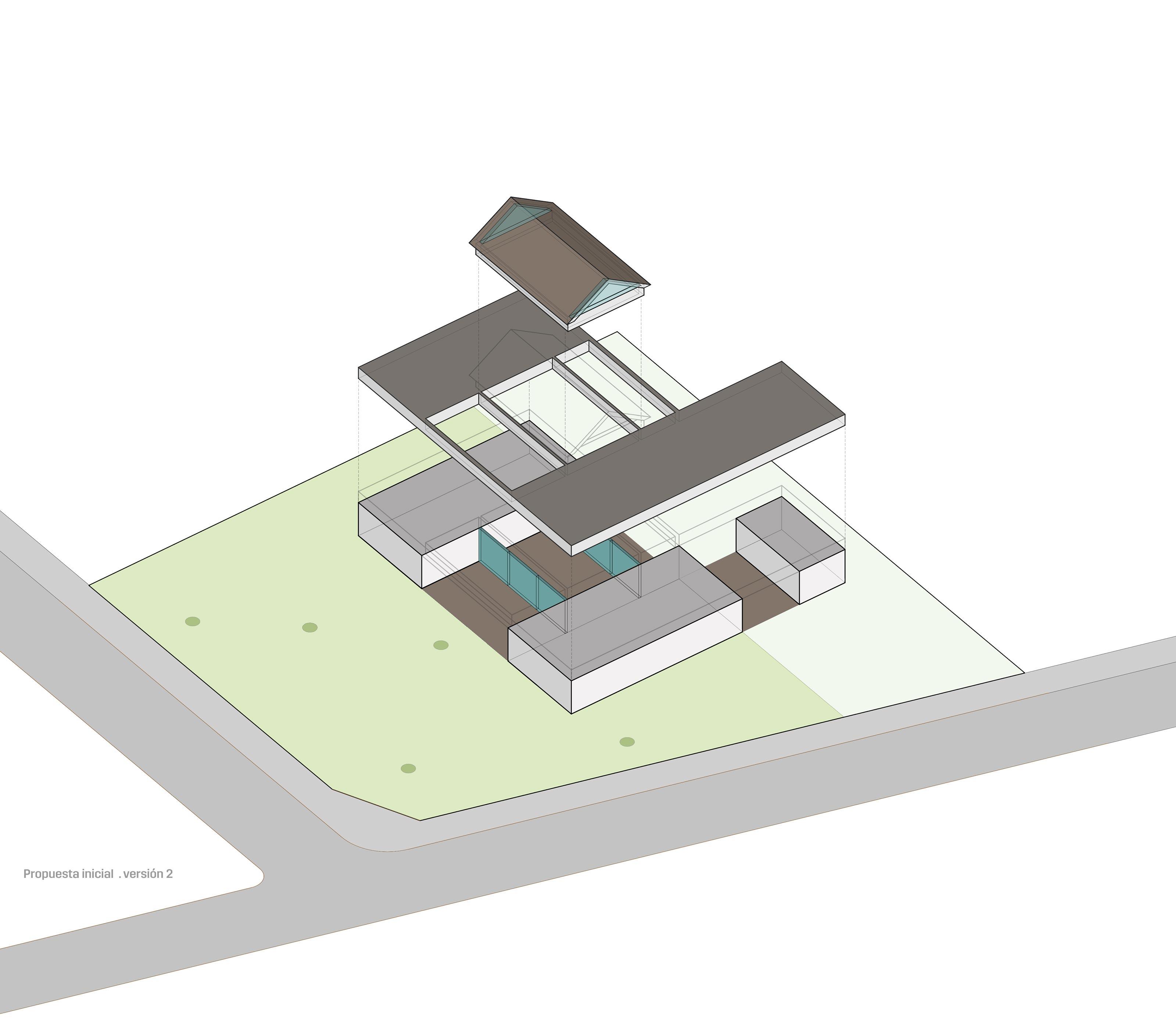 Esquema de concepto Casa Pinar Antequera Valladolid Henka Arquitectos