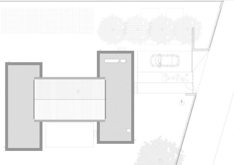 Plano cubiertas Casa Pinar Antequera Valladolid Henka Arquitectos