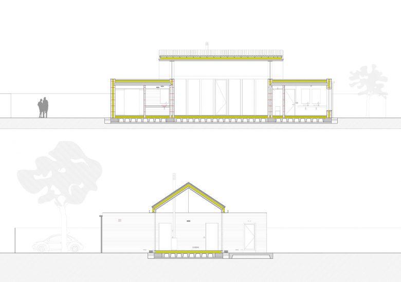 Secciones Casa Pinar Antequera Valladolid Henka Arquitectos