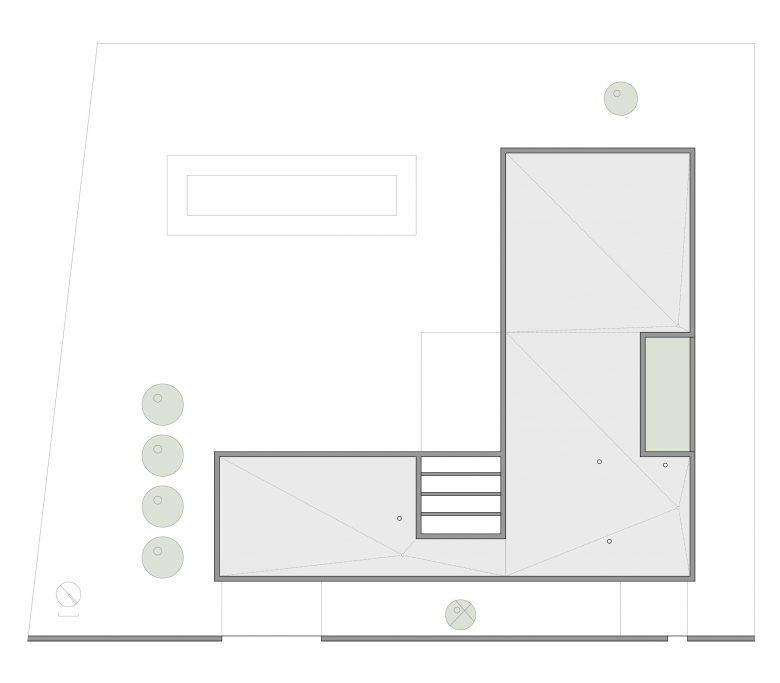 situación Casa en Tierra del Vino Morales planos arquitectura cubierta Henka Arquitectos