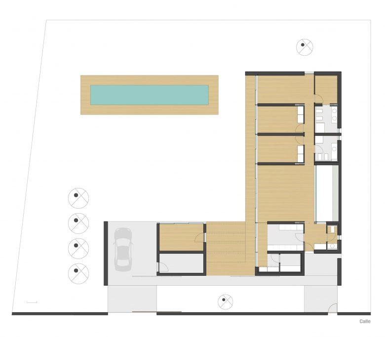 planos distribución Casa en Tierra del Vino Morales planos arquitectura distribución Henka Arquitectos