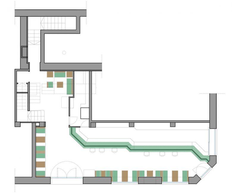 Estado inicial distribución Restaurante Serafin Zamora Henka Arquitectos