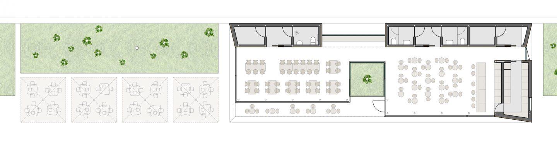 distribución terraza modular prefabricado terraza paseo maritimo Avilés Asturias Henka Arquitectos