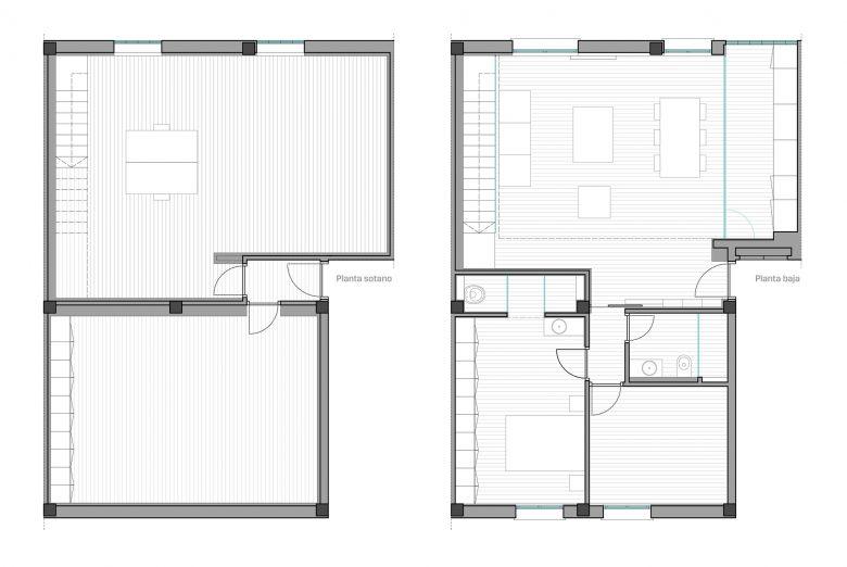 Distribución Reforma duplex Villate Burgos Henka Arquitectos