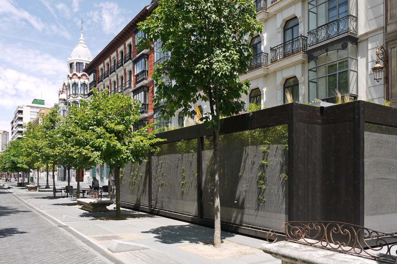 Ecoterraza pabellón prefabricado modular Hotel Melia Acera Recoletos HenkaArquitectos
