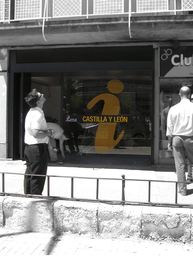diseño escaparate identidad visual oficina turismo Principe Asturias Zamora CYL HenkaWebs Henka Arquitectos