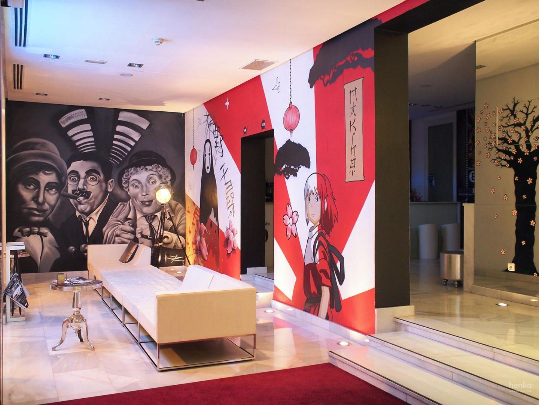 hall de entrada Hotel Dormirdcine Madrid Barrio Salamanca