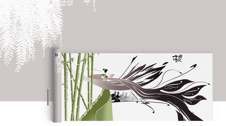 ilustración concurso diseño gráfico Hotel Dormirdcine Madrid pelicula Casa dagas voladoras henkawebs henkaarquitectos