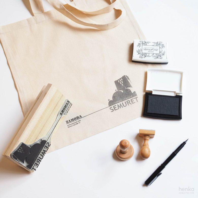 branding print ink tote bag librería editorial Semuret Zamora henkawebs henkaarquitectos