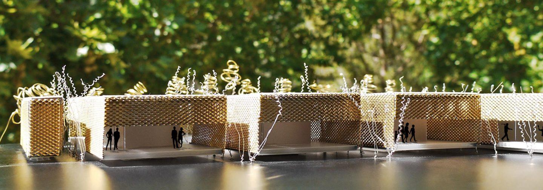 Maqueta Mercado provisional Feria Muestras Valladolid Henka Arquitectos