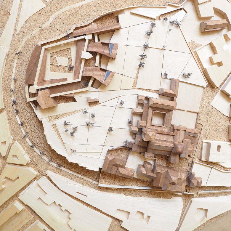 projet Musée Baltasar Lobo castillo Zamora maquette Prix MAF 2003 Académie d'architecture Paris Henka Arquitectos