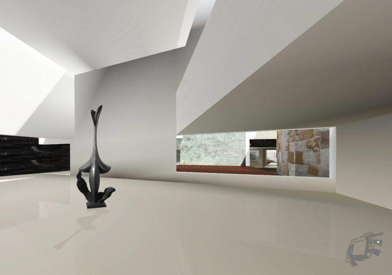 exposición esculturas foso Museo Musée Baltasar Lobo Castillo Zamora maquette Prix MAF 2003 Académie d'Architecture Paris Henka Arquitectos