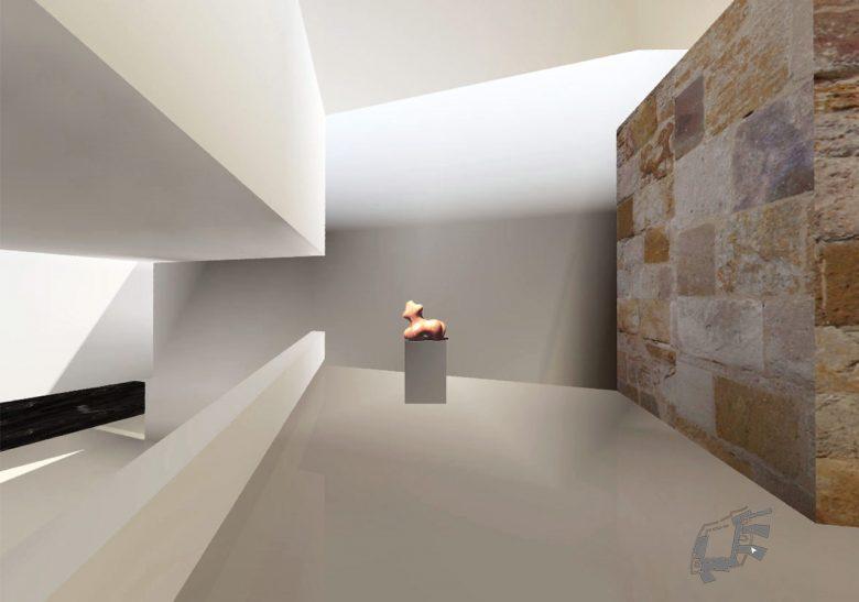 exposición murallas-foso Museo Musée Baltasar Lobo Castillo Zamora maquette Prix MAF 2003 Académie d'Architecture Paris Henka Arquitectos