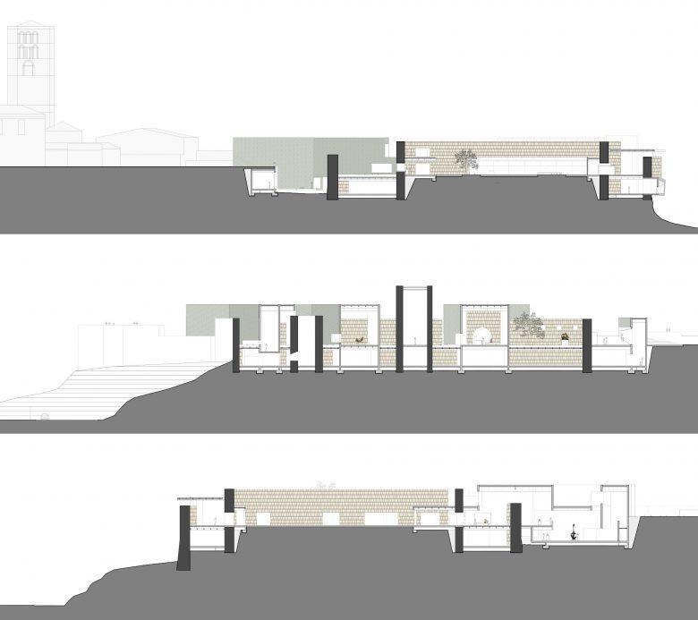 secciones Museo Musée Baltasar Lobo Castillo Zamora maquette Prix MAF 2003 Académie d'Architecture Paris Henka Arquitectos