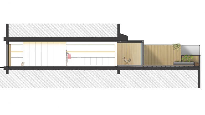 Sección Reforma Ampliación Trascastillo Zamora Henka Arquitectos