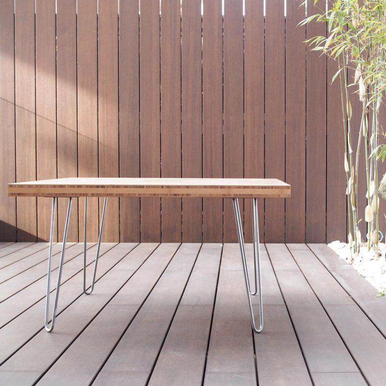 reforma Cabildo Valladolid equipamiento diseño mobiliario mesa madera maciza bambú Henka Arquitectos