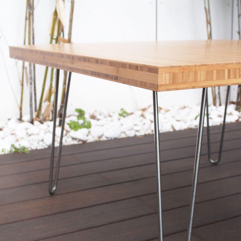 reforma Cabildo Valladolid equipamiento diseño mobiliario mesa madera bambú acero Henka Arquitectos