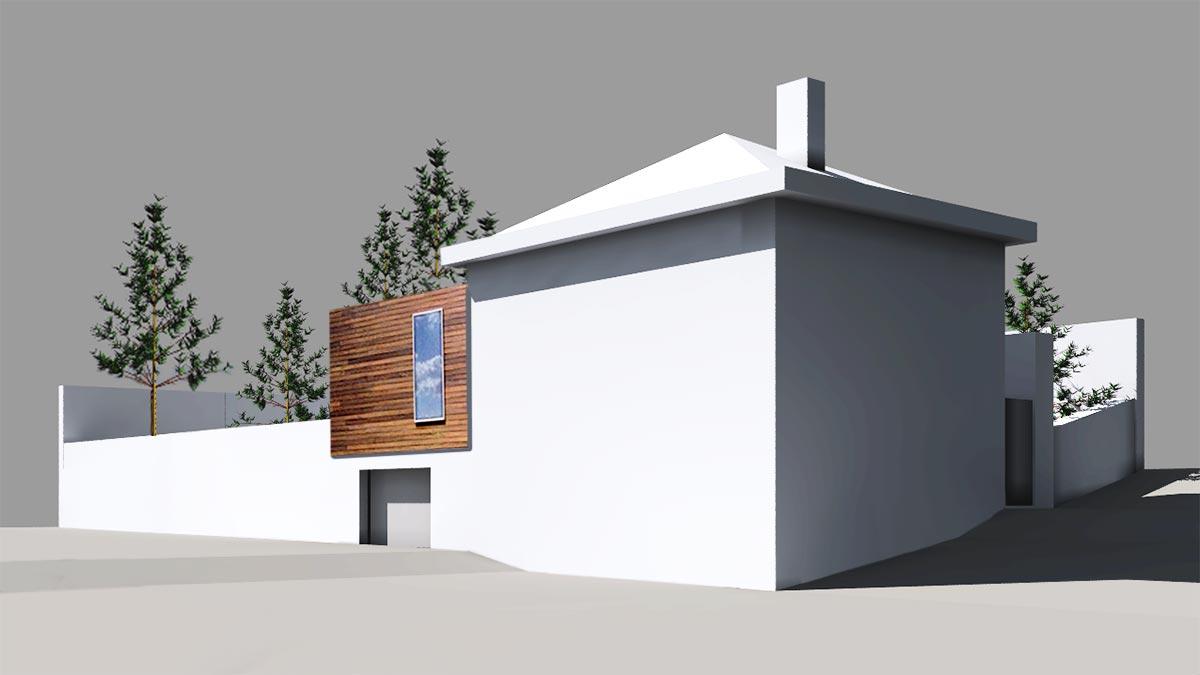 Concepto ampliación antigua Casa de guardia San Lorenzo del Escorial Henka Arquitectos