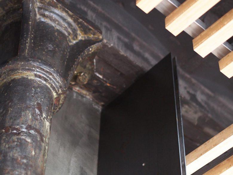 detalle columna acero historia Restaurante Serafin Zamora Henka Arquitectos