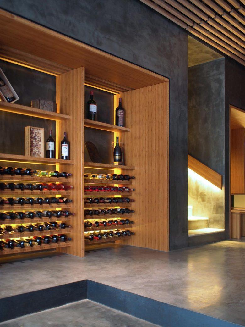 cava vino madera maciza bambú microcemento reforma Restaurante Serafin Zamora Henka Arquitectos