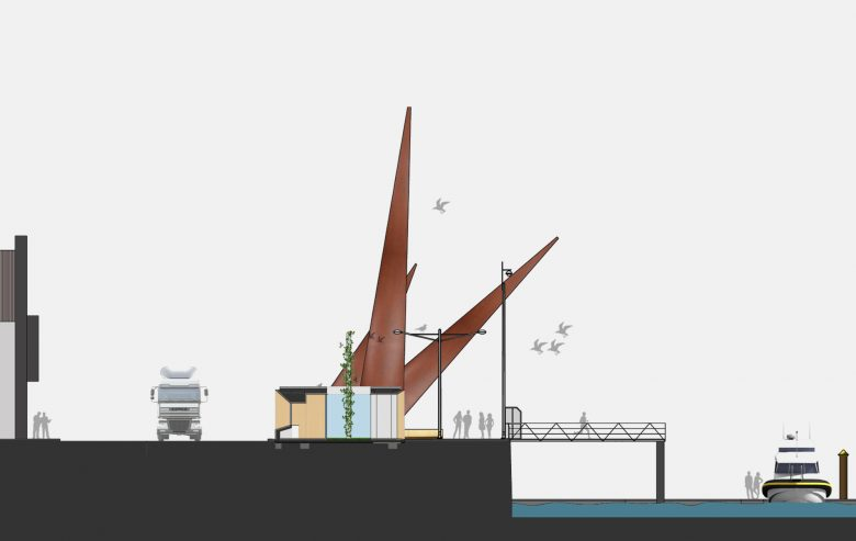 entorno terraza modular prefabricado paseo maritimo Avenida Conde Guadalhorce Avilés Asturias Henka Arquitectos