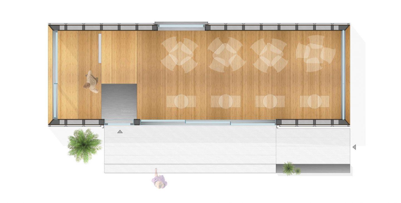 sistema prefabricado terraza hosteleria Eco Pabellon Valladolid Henka Arquitectos