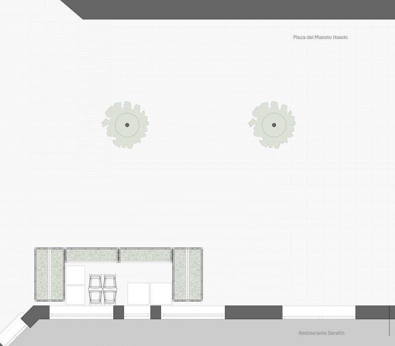 terraza-restaurante-cofres-vegetales-recogidos-zamora-Henka Arquitectos