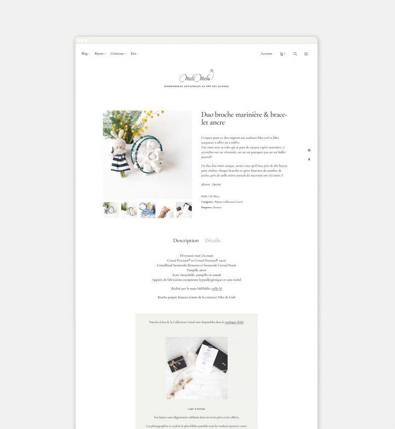 diseño website ecommerce m laboutiquedemelimelo Henkcrame bijoux Henka Webs HenkaArquitectos